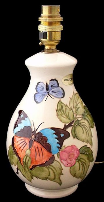 Moorcroft Pottery Butterfly Lamp Base